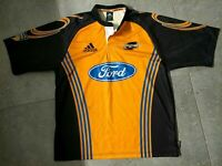 Wellington Hurricanes Adidas Super 12 Rugby Jersey Yellow Mens XL Vintage