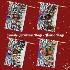 Christmas Family Portrait Dogs Cats Pets Decorative House Flag Outdoor Décor
