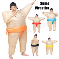 Inflatable Kids Sumo Wrestling Costume Wrestler Suit Blow U Fancy Dress Outfit