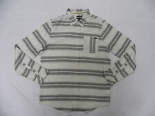 O'Neill Men Radius Ivory LS Buttom Down Woven Shirt Sz Medium