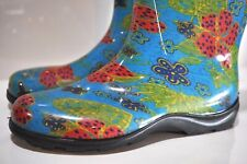Womans Sloggers colorful rain boots made in USA size 10