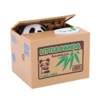Bank Panda Steal Money Coin Saving Box Pot Case Storage Presents for Children