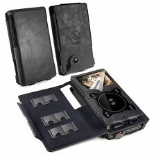TUFF LUV Faux Leather Combo Case for FiiO X3 III 3rd Gen & A5 / E12 Amp - Black