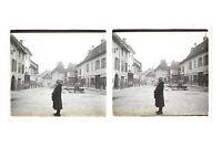 Francia Ayuntamiento A Identificar Foto n46L4-24 Placa Cristal Estéreo Vintage