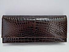GIANNI MILANESI brown genuine alligator clutch convertible handbag CARRIED ONCE