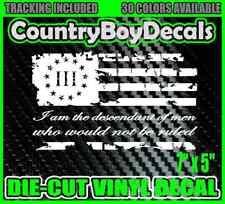 3% Three Percenter FLAG I am the descendant Vinyl Decal Sticker Diesel Truck Car