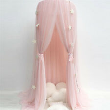 AU!! Kids Baby Bed Canopy Bedcover Mosquito Net Curtain Bedding Dome Tent Pink