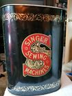 Singer+Sewing+Machine++Metal+Trash+Can+13%E2%80%9D+Tall+Oval+In+Very+Good+Condition