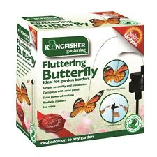 2x Usa Energía Solar Giratorio Movimiento mariposas borde del Jardín Exterior