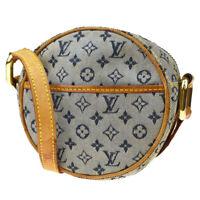 Authentic Louis Vuitton Jeanne PM Shoulder Bag Monogram Mini Blue M92001 88MD238