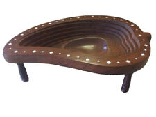 Beautiful Antique Handcrafted Art Wooden Extendable Depth Fruit Bowl Plate Tray