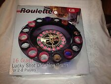 16 Glass Lucky Shot Drinking Game - Roulette - Original Box