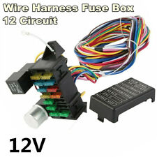 12 Circuit Basic Wire Harness Fuse Box Street Hot Rat Rod Wiring 12V For Car SUV