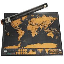 Rubbel Weltkarte Landkarte zum Rubbeln Rubbelweltkarte Rubbel-Karte Wandkarte