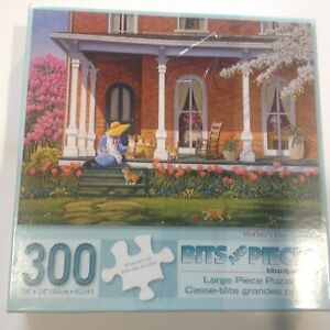 """Bits and Pieces Mother's Day Large 300 Piece Puzzle #43250 18"""" x 24"""" John Sloane"""
