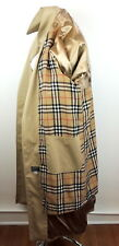 Mens 40R Tan Famous Look Trench Coat With Nova Check Lining