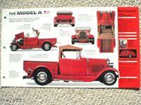 1930 FORD MODEL A PickUp HOT ROD SPEC SHEET/Brochure