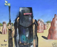 NED KELLY ART PAINTING  ABSTRACT ANDY BAKER  2000s, Abstract, Australia