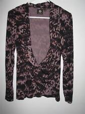 AMBER SUN WOMEN'S CROSSOVER STRETCHY BLOUSE MEDIUM