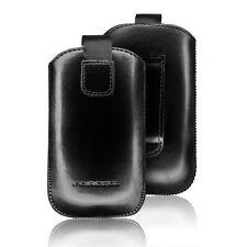 HOUSSE COQUE ETUI PUSH CUIR NOIR AVEC LANGUETTE Pour SAMSUNG GT-i9500 GALAXY S4