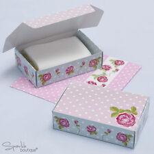 VINTAGE ROSE CAKE BOXES - Floral Pink/Blue Design -Tea Party- FULL RANGE IN SHOP