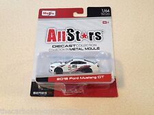 Maisto All Stars Diecast White 2015 Ford Mustang GT 1:64 Scale
