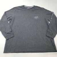 Vineyard Vines T-Shirt Mens 2XL XXL Gray Long Sleeve Crew Neck Orlando