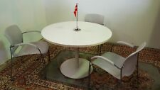 "HAWORTH 42"" ROUND COMPOSE LAMINATED TABLE with 27"" DISC BASE"