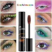 4D Colored Silk Fiber Eyelash Mascara Extension Makeup Waterproof Eye Lashes HOT