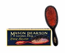 Mason Pearson BN3 Handy Boar Bristle Nylon Tufts Hair Brush, Cleaner, Gift Box