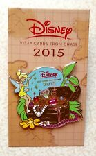 Disney Visa Cards from Chase 2015 Tinker Bell with Treasue Pin - NEW