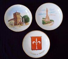 "SOCIETA CERAMICA ITALIANA LAVENO ""Trieste Italy"" Porcelain 3 3/4"" Dish Set Of 3"