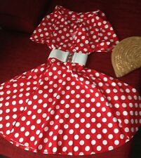 Red and White Spot 50's/ Rockabilly Dress/ Summer/ Picnic/ Floaty Dress