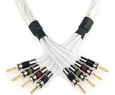 QED Genesis Silver Spiral Bi-Wire Speaker Cable Terminated 5.0m Pair