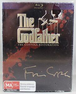 THE GODFATHER: THE COPPOLA RESTORATION (BLU-RAY, 2008, 5-DISC SET) NEW/SEALED RB