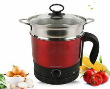 1.2L Daewoo Hot Steamer Kettle Pot Easy Electric Cooker Stainless Steel 220V are