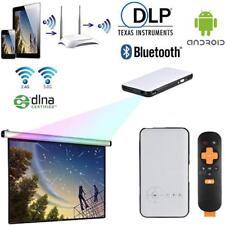 Mini LED DLP Projector Home Cinema+Android 4.4 Smart TV Box WiFi Bluetooth 4.0
