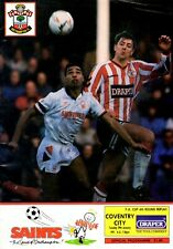 Southampton v Coventry City programme, FA Cup 4th Round Replay, January 1991