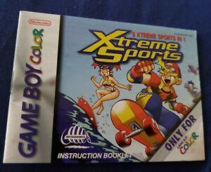 Game Boy Color Xtreme Sports Manual