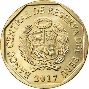 [#916658] Coin, Peru, Ours à lunettes, Sol, 2017, Lima, MS(63), Cupro-nickel