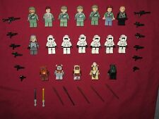 LEGO Star Wars minifigures LOT Endor Rebels,Scout Troopers,Leia,Luke,Ewoks,+Guns