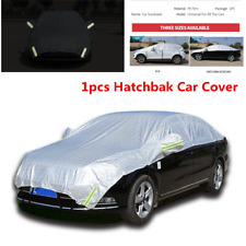 Sliver Hatchback Car Cover Sun Proof Shade Reflective Rain Protection Half Cover