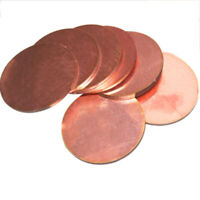 Thick:1mm OD: 20-100mm Solid Pure Red Copper Discs Blanks Round Plate Sheet