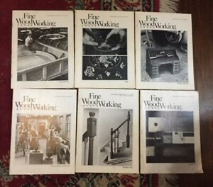 FINE WOODWORKING MAGAZINE   LOT OF 6  YEAR 1981