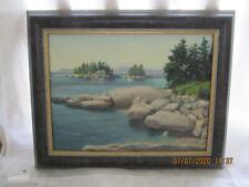 Stanley E. Farnham Canvas Oil Painting Landscape Cottage Sunshine Maine