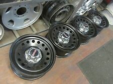 "GMC TRUCK VAN SUV 17"" FACTORY ORIGINAL OEM STOCK BLACK STEEL WHEELS RIMS 8072"