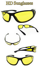HD Aviator Sunglasses Night Vision Driving Glasses Yellow Lens Anti Glare UV400