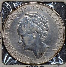 Netherlands 1932 2 1/2 Gulden silver  190471 combine shipping
