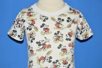 vintage 60s MICKEY MOUSE WALT DISNEY ALL-OVER PRINT WHITE t-shirt TODDLER 2T