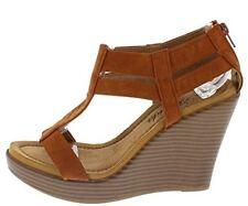Women's Shoes Wedge Platform Atrevida Wallie Camel Gladiator Open Toe Size 7